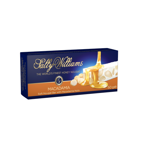 SALLY WILLIAMS - 50 G -  MACADAMIA NOUGAT BARS